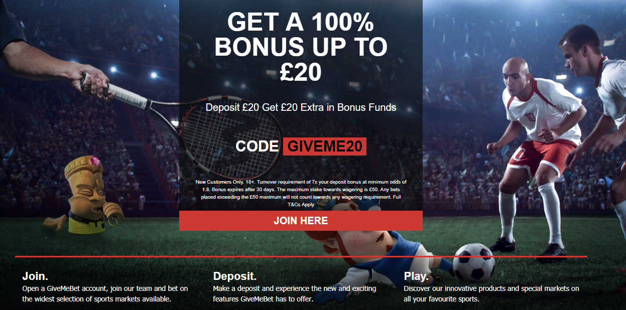 GiveMeBet Sign-Up Offer