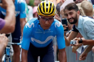 Nairo Quintana at the Vuelta a Espana