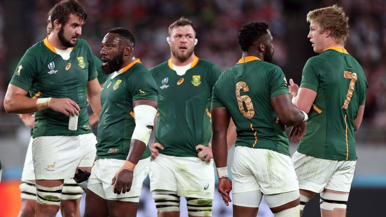 South Africa prepare to face Wales in the Rugby World Cup semi final.