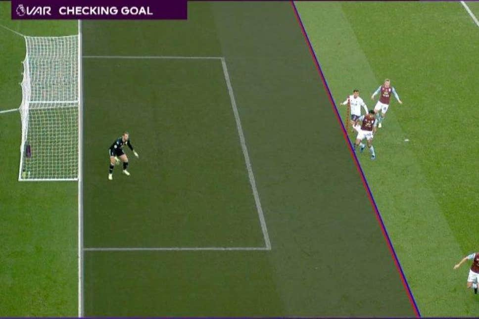 VAR rules out Roberto Firmino's goal against Aston Villa