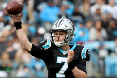 Kyle Allen in action for the Carolina Panthers