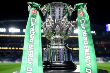 Carabao Cup in foreground.