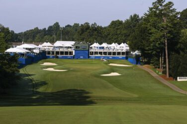18th hole at Sedgefield Country Club